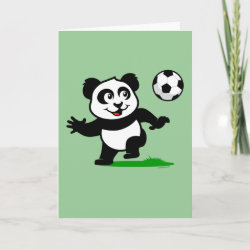 Standard Card with Cute Soccer Panda design