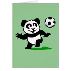 Greeting Card with Cute Soccer Panda design