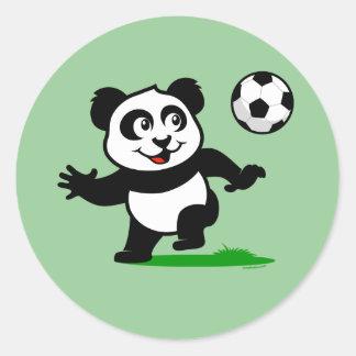 Cute Soccer Panda Stickers