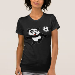 Women's American Apparel Fine Jersey Short Sleeve T-Shirt with Cute Soccer Panda design