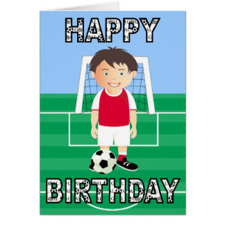 Cute Soccer Player Greeting Card