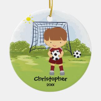 Cute Soccer Player Sport Christmas Ornament