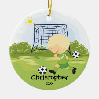 Cute Soccer Player Sport Christmas Ornament