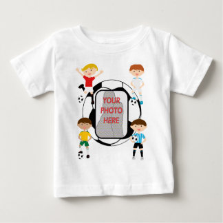 Cute Soccer stars Photo customizable Kids t-shirts