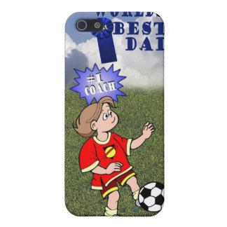 Cute Soccer Worlds Best Dad #1 Coach iPhone SE/5/5s Case