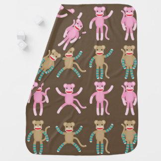 """""""Cute Sock Monkey"""" BABY BLANKET"""