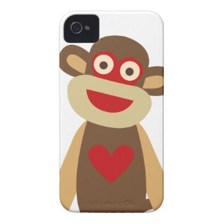 Cute Sock Monkey iPhone 4 Case-Mate Cases