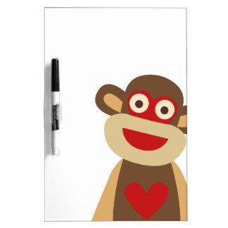 Cute Sock Monkey Dry-Erase Board