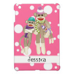 Cute Sock Monkey Girl Friends Whimsical Fun Art Case For The iPad Mini