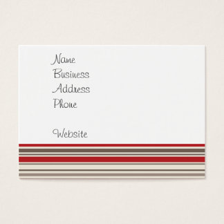 Cute Sock Monkey on Red Circle Red Brown Stripes Business Card