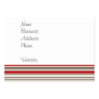 Cute Sock Monkey on Red Circle Red Brown Stripes Large Business Card