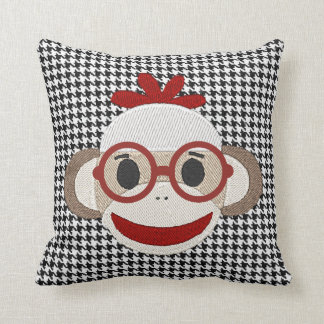 """Cute Sock Monkey"" THROW PILLOW"
