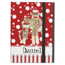 Cute Sock Monkeys, Monkey Friends Whimsical Fun Case For iPad Air