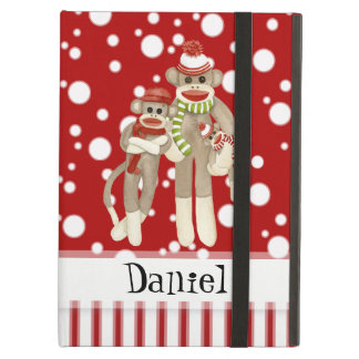 Cute Sock Monkeys, Monkey Friends Whimsical Fun Case For iPad Air