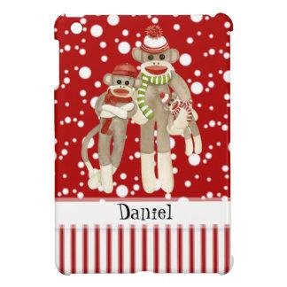 Cute Sock Monkeys, Monkey Friends Whimsical Fun iPad Mini Cases