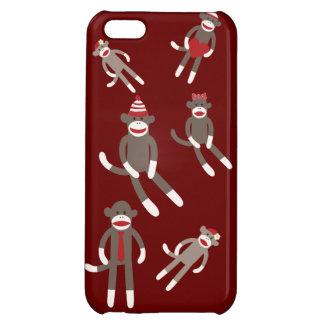 Cute Sock Monkeys Red Tan iPhone 5 Case