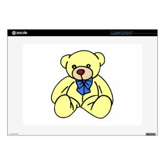 "Cute Soft Cuddly Yellow Teddy Bear 15"" Laptop Skin"