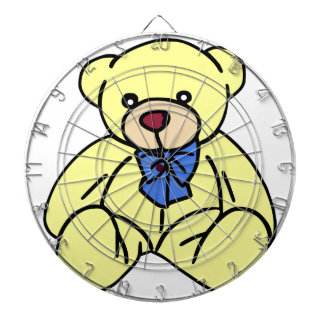 Cute Soft Cuddly Yellow Teddy Bear Dartboard