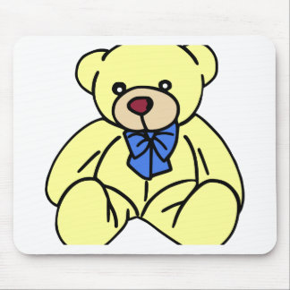 Cute Soft Cuddly Yellow Teddy Bear Mouse Pad
