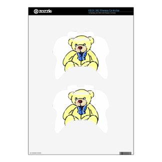 Cute Soft Cuddly Yellow Teddy Bear Xbox 360 Controller Decal
