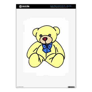 Cute Soft Cuddly Yellow Teddy Bear iPad 3 Decals