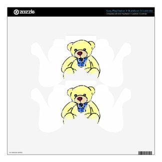 Cute Soft Cuddly Yellow Teddy Bear PS3 Controller Decal