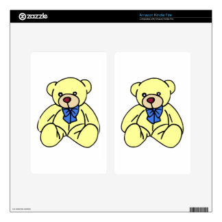 Cute Soft Cuddly Yellow Teddy Bear Skins For Kindle Fire