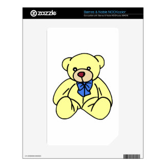 Cute Soft Cuddly Yellow Teddy Bear Skins For The NOOK Color