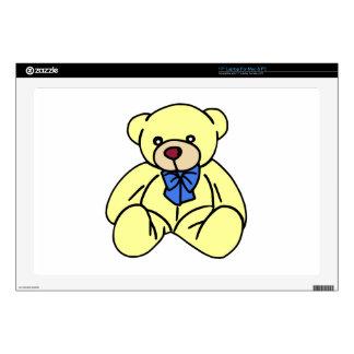 Cute Soft Cuddly Yellow Teddy Bear Skin For Laptop