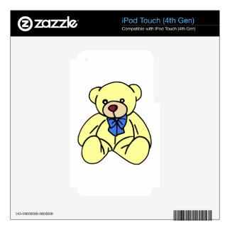 Cute Soft Cuddly Yellow Teddy Bear Skin For iPod Touch 4G