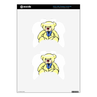 Cute Soft Cuddly Yellow Teddy Bear Xbox 360 Controller Decal