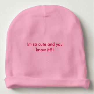Cute soft pink hat for baby girls