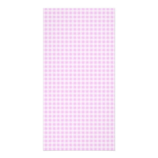 Cute Soft Rose Pink White Gingham Check Pattern Card