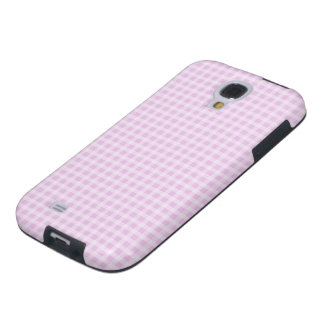 Cute Soft Rose Pink White Gingham Check Pattern Galaxy S4 Case