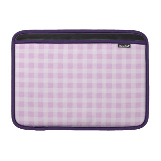 Cute Soft Rose Pink White Gingham Check Pattern MacBook Sleeve