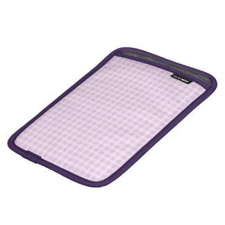 Cute Soft Rose Pink White Gingham Check Pattern iPad Mini Sleeve