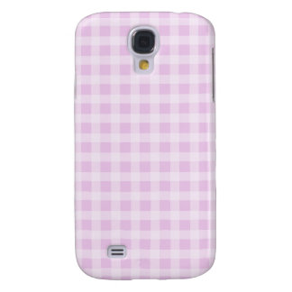 Cute Soft Rose Pink White Gingham Check Pattern Samsung Galaxy S4 Cover