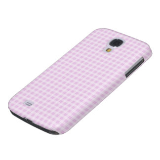 Cute Soft Rose Pink White Gingham Check Pattern Samsung S4 Case