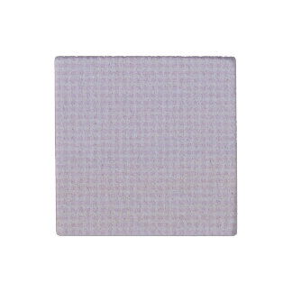Cute Soft Rose Pink White Gingham Check Pattern Stone Magnet