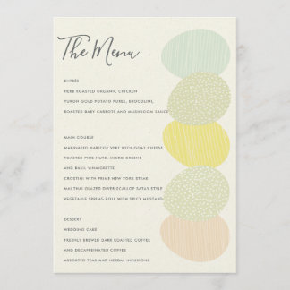 CUTE SOFT SUBTLE PASTEL EASTER EGGS MENU