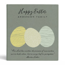 CUTE SOFT SUBTLE PASTEL EASTER EGGS PERSONALIZED BINDER