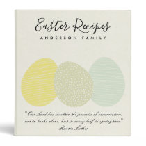 CUTE SOFT SUBTLE PASTEL EASTER EGGS RECIPES GIFT 3 RING BINDER