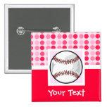 Cute Softball 2 Inch Square Button