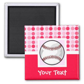 Cute Softball 2 Inch Square Magnet