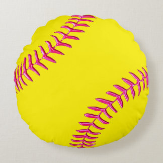Cute Softball Bedroom Decor Round Softball Pillows