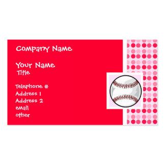 Cute Softball Business Card