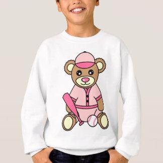 Cute Softball Girl Bear - Pink Sweatshirt