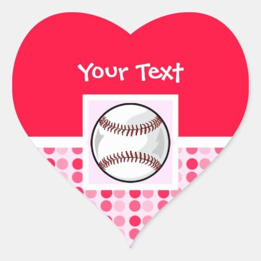 Cute Softball Heart Sticker
