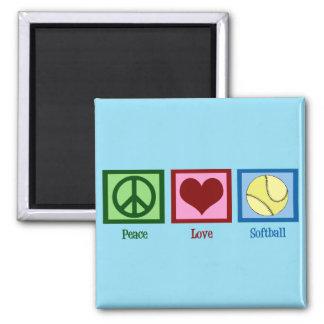 Cute Softball (Peace Love) Magnet