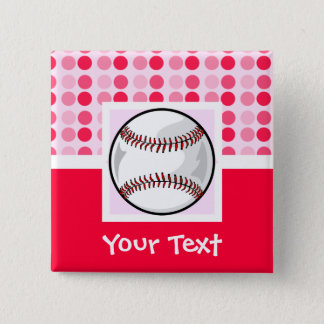 Cute Softball Pinback Button